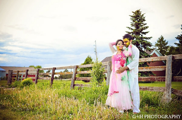 Indian bride groom engagement portraits in G + H Photography Engagement Inspiration Shoot