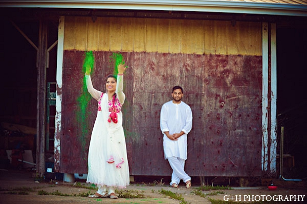 Indian bride portrait engagement groom in G + H Photography Engagement Inspiration Shoot