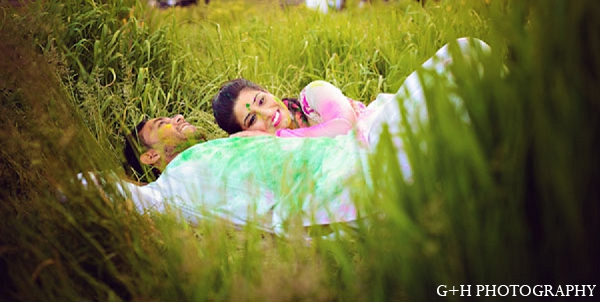 Indian bride portraits groom engagement in G + H Photography Engagement Inspiration Shoot