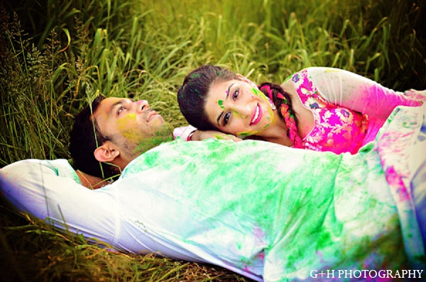 Indian engagement photography bride groom in G + H Photography Engagement Inspiration Shoot