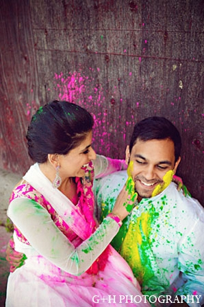 Indian engagement photography groom bride in G + H Photography Engagement Inspiration Shoot
