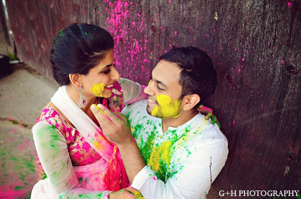 Indian engagement portraits bride groom in G + H Photography Engagement Inspiration Shoot