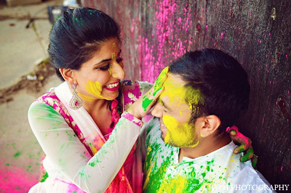 Indian engagement portraits groom bride in G + H Photography Engagement Inspiration Shoot