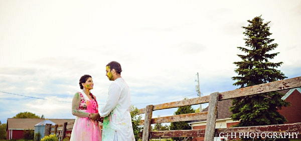 Indian groom bride engagement portraits in G + H Photography Engagement Inspiration Shoot