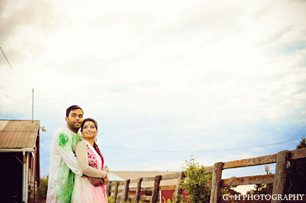 Indian portraits bride engagement groom in G + H Photography Engagement Inspiration Shoot