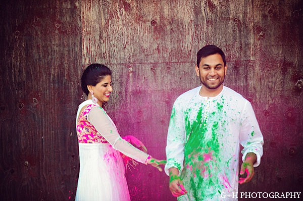 Indian wedding bride groom portraits in G + H Photography Engagement Inspiration Shoot