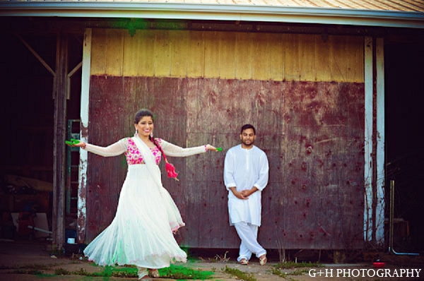 Indian wedding portraits bride groom in G + H Photography Engagement Inspiration Shoot