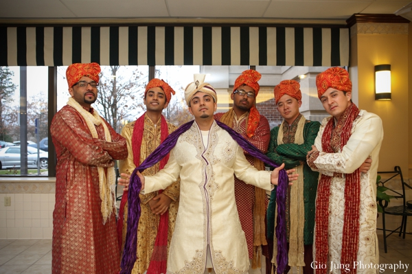 Indian wedding groom groomsmen portrait in Agawam, Massachusetts Indian Wedding by Gio Jung Photography