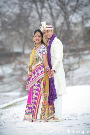 Indian wedding bride groom portraits in Agawam, Massachusetts Indian Wedding by Gio Jung Photography