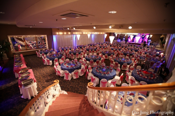 Indian wedding ceremony venue lighting and decor in Agawam, Massachusetts Indian Wedding by Gio Jung Photography