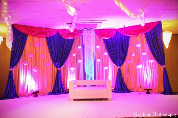 Indian wedding reception lighting venue in Agawam, Massachusetts Indian Wedding by Gio Jung Photography