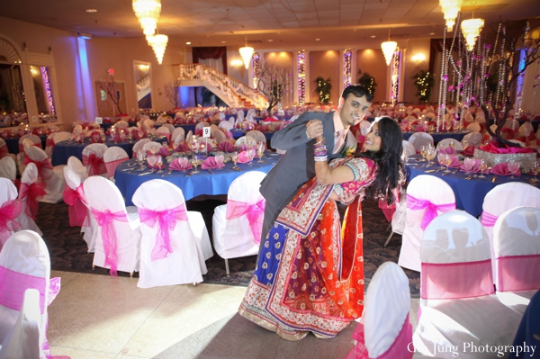 Indian wedding reception bride groom lighting in Agawam, Massachusetts Indian Wedding by Gio Jung Photography