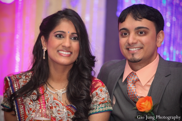 Indian wedding reception bride groom in Agawam, Massachusetts Indian Wedding by Gio Jung Photography