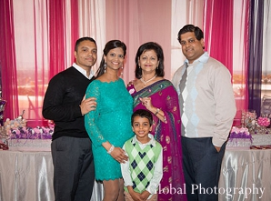 Indian baby shower family portrait girl