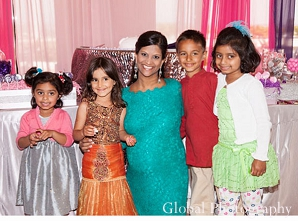 Indian baby shower girl family portrait