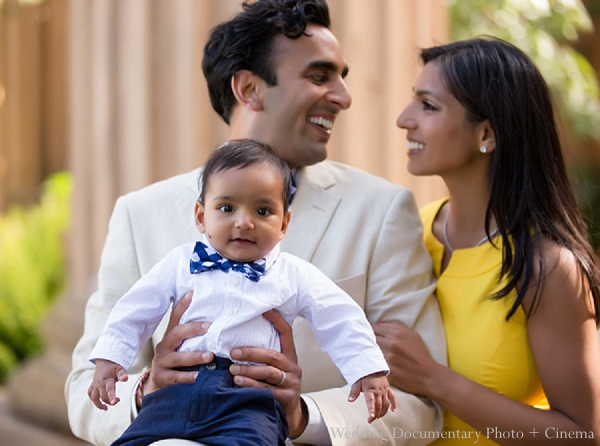 indian family portrait son husband wife baby