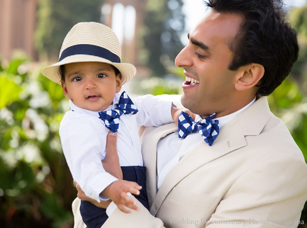 Indian family portraits son father bowties