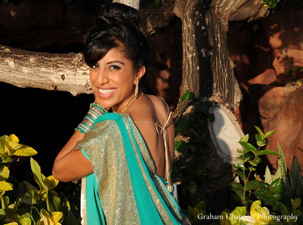 Indian wedding bride sangeet portraits in Lahaina, HI Indian Wedding by Graham Chappell Photography