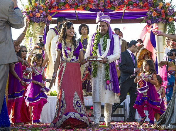 Indian wedding ceremony decor mandap in Lahaina, HI Indian Wedding by Graham Chappell Photography