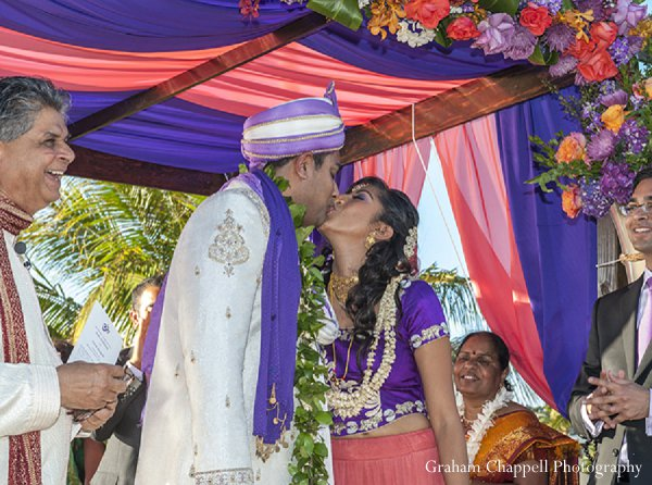 Indian wedding ceremony mandap groom in Lahaina, HI Indian Wedding by Graham Chappell Photography