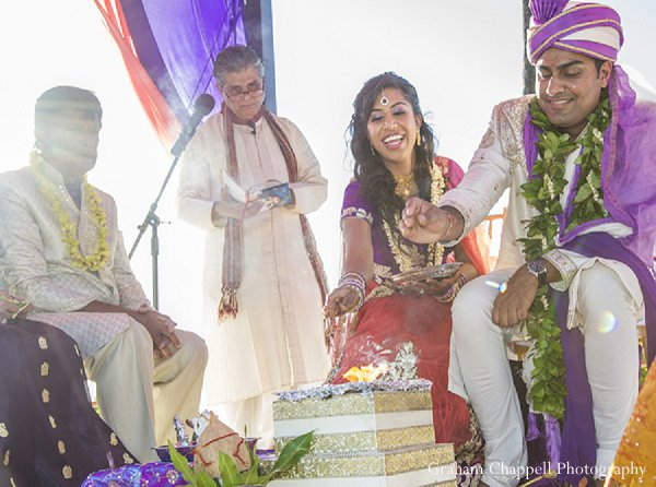 Indian wedding ceremony traditional in Lahaina, HI Indian Wedding by Graham Chappell Photography