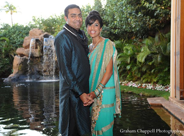 Indian wedding groom bride portraits photography in Lahaina, HI Indian Wedding by Graham Chappell Photography