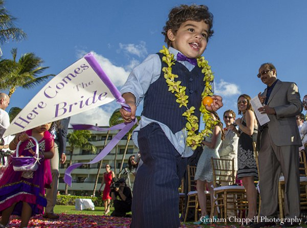 Indian wedding mini maharaja in Lahaina, HI Indian Wedding by Graham Chappell Photography