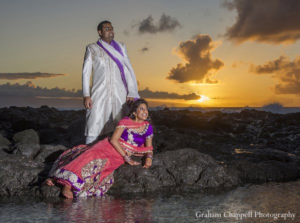 Indian wedding photo portraits beach in Lahaina, HI Indian Wedding by Graham Chappell Photography