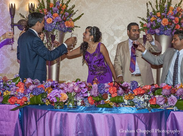 Indian wedding reception sweetheart table in Lahaina, HI Indian Wedding by Graham Chappell Photography