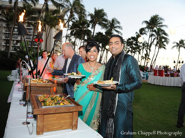 Indian wedding sangeet catering in Lahaina, HI Indian Wedding by Graham Chappell Photography