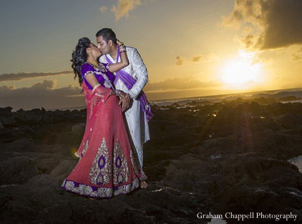 Indian wedding sunset portraits in Lahaina, HI Indian Wedding by Graham Chappell Photography