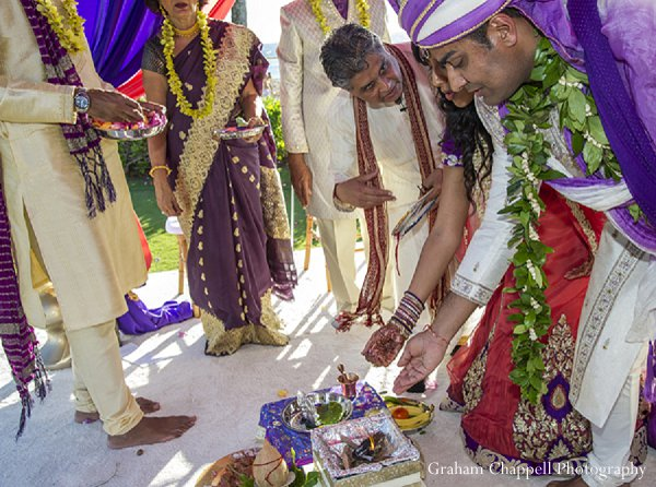 Indian wedding traditions ceremony in Lahaina, HI Indian Wedding by Graham Chappell Photography