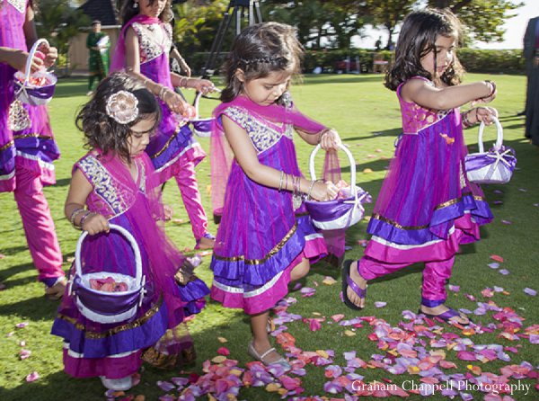 Indian wedidng flower girls pink in Lahaina, HI Indian Wedding by Graham Chappell Photography
