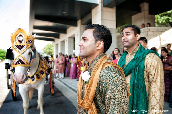 Indian wedding baraat traditional customs rituals in Dallas, Texas Indian Wedding by Greg Blomberg