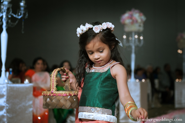 Indian wedding traditional ceremony flower girl in Dallas, Texas Indian Wedding by Greg Blomberg