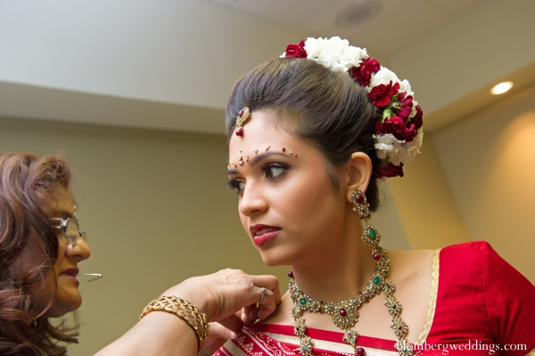 Indian bridal portrait inspiration in Dallas, Texas Indian Wedding by Greg Blomberg