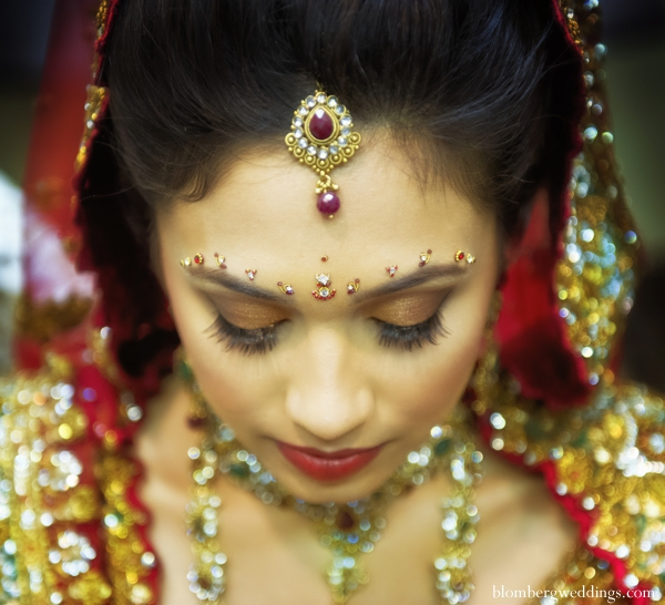 Indian wedding bridal jewelry makeup in Dallas, Texas Indian Wedding by Greg Blomberg