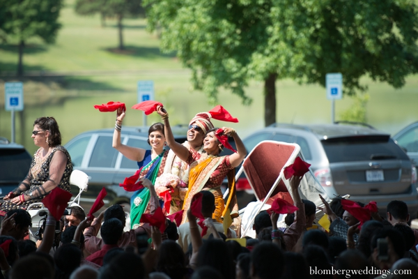 Indian wedding baraat street celebration in Dallas, Texas Indian Wedding by Greg Blomberg