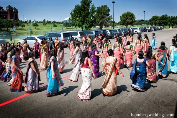 Indian wedding baraat street celebration in Dallas, Texas Indian Wedding by Greg Blomberg