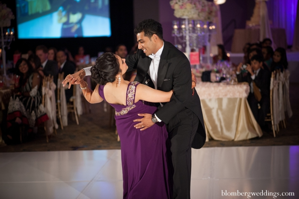 Indian wedding reception dance bride groom in Dallas, Texas Indian Wedding by Greg Blomberg