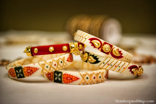 Indian wedding bridal bangles in Dallas, Texas Indian Wedding by Greg Blomberg