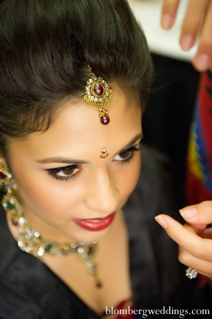 Indian wedding bridal makeup hair jewelry in Dallas, Texas Indian Wedding by Greg Blomberg