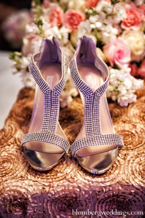 Indian wedding bridal shoes inspiration in Dallas, Texas Indian Wedding by Greg Blomberg