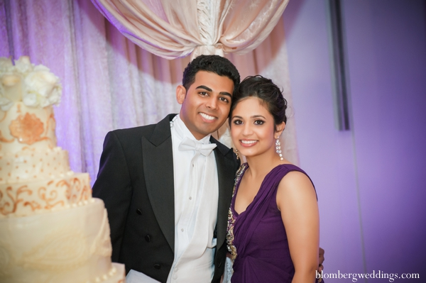 Indian wedding bride groom cake reception in Dallas, Texas Indian Wedding by Greg Blomberg
