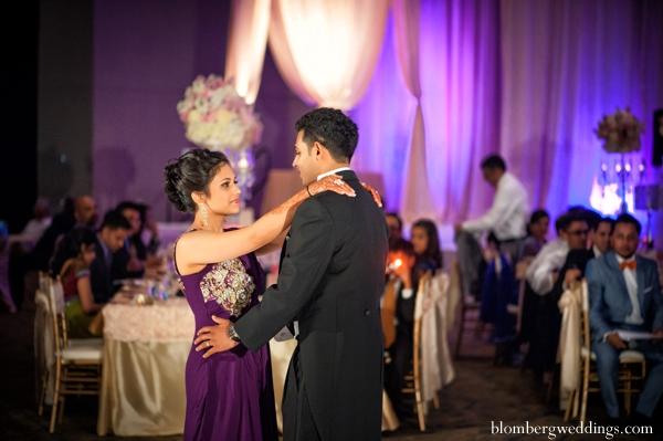 Indian wedding bride groom dance reception in Dallas, Texas Indian Wedding by Greg Blomberg