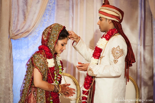 Indian wedding bride groom traditional in Dallas, Texas Indian Wedding by Greg Blomberg