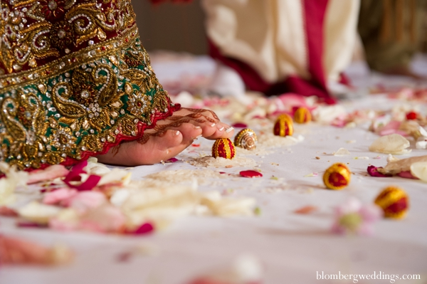 Indian wedding bride traditional customs in Dallas, Texas Indian Wedding by Greg Blomberg