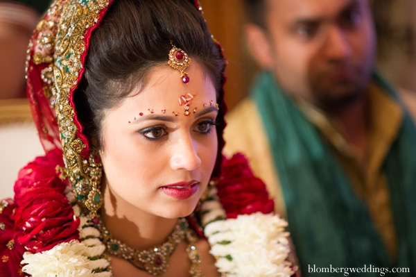 Indian wedding ceremony bride in Dallas, Texas Indian Wedding by Greg Blomberg
