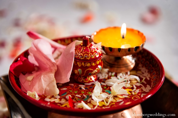 Indian wedding ceremony items candles in Dallas, Texas Indian Wedding by Greg Blomberg