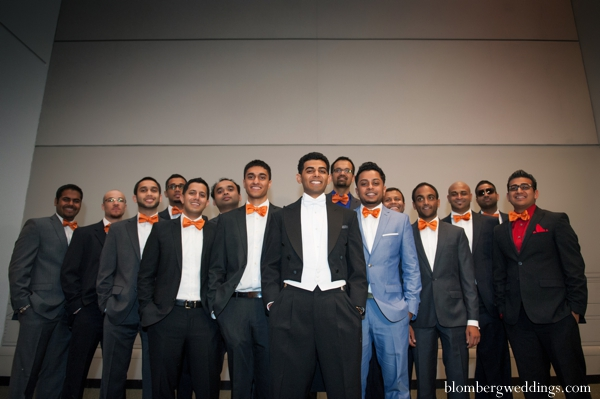 Indian wedding groom groomsmen portrait in Dallas, Texas Indian Wedding by Greg Blomberg